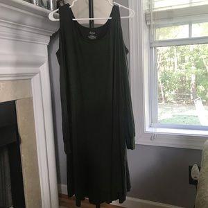 Olive Green Open Shoulder Dress